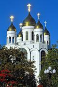 cathedral of christ the savior shines in the sun. kaliningrad, russia - stock photo