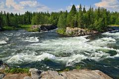 Threshold padun on umba river, kola peninsula, russia Stock Photos