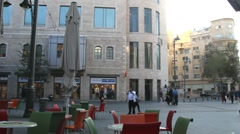 Old Jerusalem -  Jaffo  street in the  evening Stock Footage