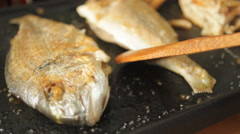 Grill Fish - stock footage