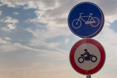 bicycle allowed sign - stock photo
