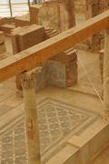 roman frescoes on the walls - stock photo