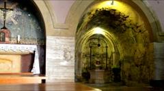 Holy visitation church in Ein Kerem, Jerusalem Stock Footage