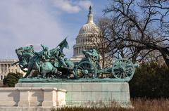 civil war memorial washington dc - stock photo