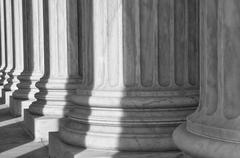 Pillars of the supreme court of the united states of america Stock Photos