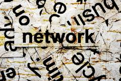 Stock Illustration of network word cloud