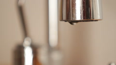 Water drop from faucet. Stock Footage