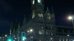 ST Pancras Station,the main railway junctions in London Stock Footage