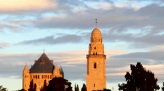 Abbey of the Dormition - Jerusalem Stock Footage
