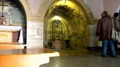 House of  Elizabeth in Holy visitation church in Ein Kerem, Jerusalem Stock Footage