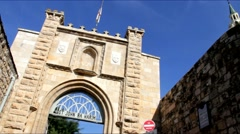 Church of St John the Baptist. Gate. Ein Kerem. Jerusalem. Israel Stock Footage