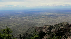 View of Albuquerque from the Sandia Mountains Stock Footage