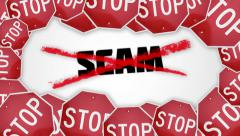 Stop Scam concept animation. Stock Footage