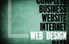 web design - stock illustration
