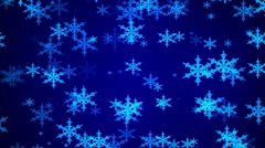 snowflake, abstract motion, blue background, loop - stock footage