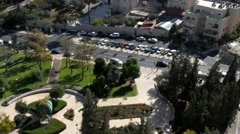 Western Jerusalem landscape. View from a great height Stock Footage