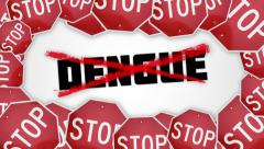 Stop Dengue concept animation. Stock Footage