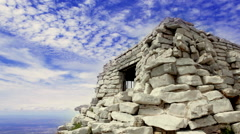 Timelapse: CCC Stone Building, Tramway Trail, Sandia Mountains, Albuquerque Stock Footage