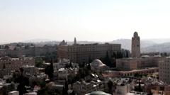 Hotel King David and Jerusalem International YMCA. Jerusalem. Israel Stock Footage