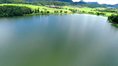 Surface of a lake Velenje in Slovenia Stock Footage
