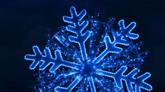 Sparkling snowflake isolated. Stock Footage