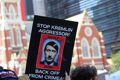 Anti Vladimir Putin - stock photo