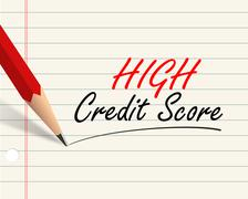 Stock Illustration of pencil paper - high credit score