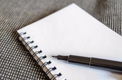 white notepad - stock photo
