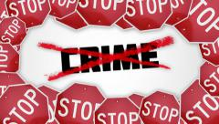 Stop crime concept animation. Stock Footage