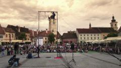 Artist show at Sibiu Theatre Festival Stock Footage