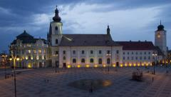 Time lapse of a eastern european city Stock Footage