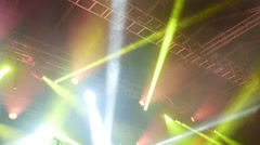 People dancing at open air rock festival - stock footage