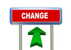 3d arrow road sign - change Stock Illustration