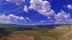 Timelapse: Clouds over New Mexico desert - stock footage