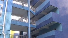 Multistory classroom building in a school Stock Footage