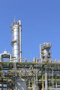 Stock Photo of refinery tower