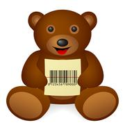 Bear bar code Stock Illustration