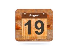 August 19. Stock Illustration