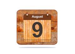 august 9. - stock illustration