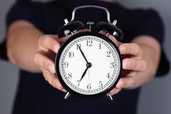 It's almost seven o'clock! Stock Photos