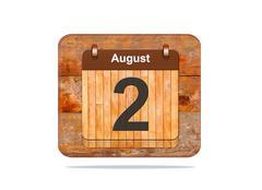 august 2. - stock illustration