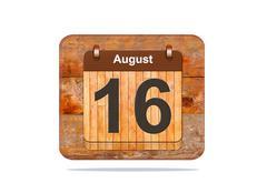 august 16. - stock illustration