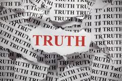 torn truth - stock photo
