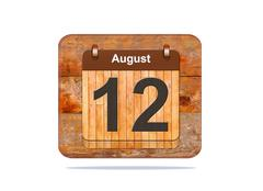 Stock Illustration of august 12.
