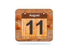 august 11. - stock illustration