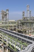 refining factory on summer season - stock photo