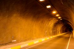 undergound dark tunnel - stock photo
