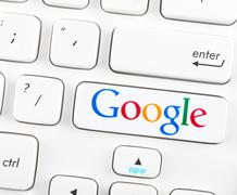 google logotype on a keyboard button - stock photo