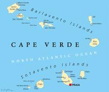 Cape Verde Political Map Stock Illustration
