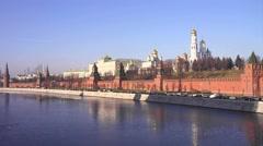 Moscow. kremlin. cityscape Stock Footage